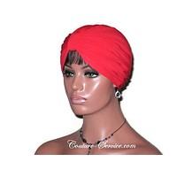 Handmade Red Double Knot Turban, Cardinal