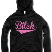 """Unisex """"The Bitch"""" Hoodie by The T-Shirt Whore (Black)"""