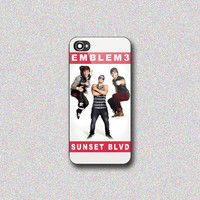 Emblem3 Sunset BLVD Cover - Print on Hard Cover for iPhone 4/4s, iPhone 5/5s, iPhone 5c - Choose the option in right side