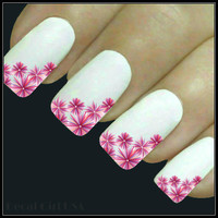 Flower Nail Decal Nail Art 20 Water Slide Decals Fingernail Decals Nail Tattoos Nail Transfers