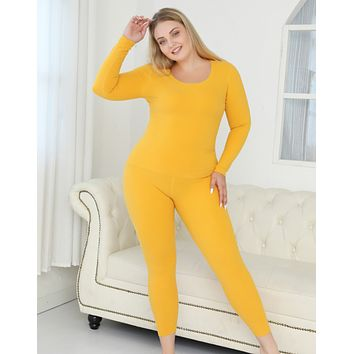 Explosive hot sale seamless double-sided velvet thermal underwear set