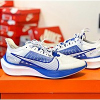 NIKE ZOOM GRAVITY Trending Women Men Casual Sport Sneakers Shoes White&Blue