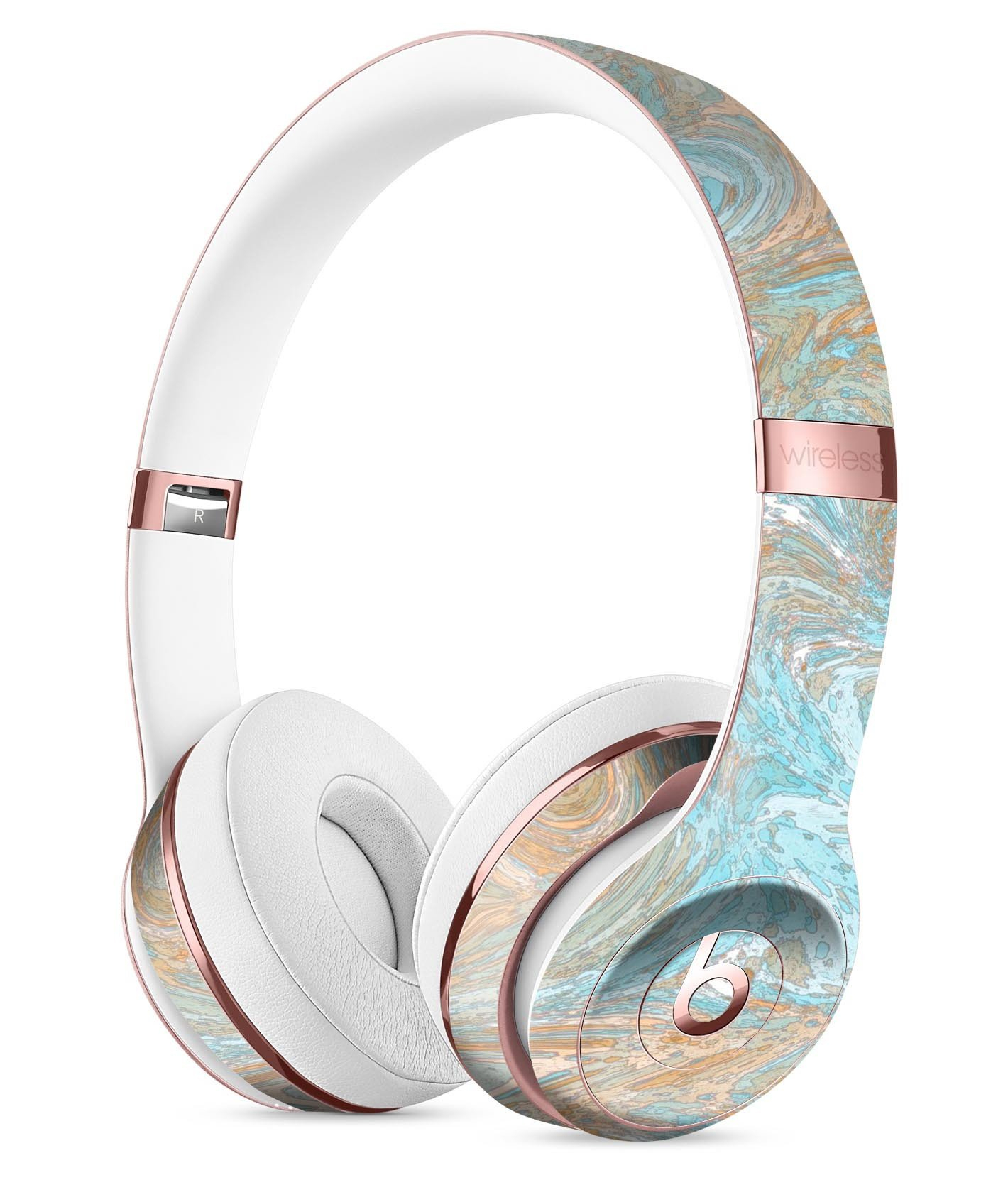 Image of Slate Marble Surface V28 Full-Body Skin Kit for the Beats by Dre Solo 3 Wireless Headphones