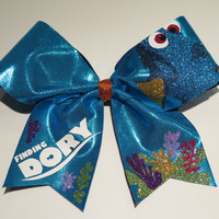 "3 inch ""finding dory"" cheer bow"