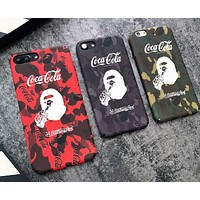 Coca Cola print phone shell phone case for Iphone 6/6s/6p/7p/7/8/8p/X