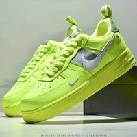 Nike Air Force 1 2018 new fluorescent green men's sports low to help casual shoes