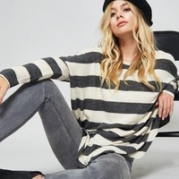 Stripe Print Knit Top