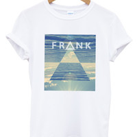 Frank Ocean triangle white t shirt