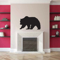 Grizzly Bear Silhouette Vinyl Wall Decal Sticker Graphic