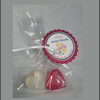 Bridal Shower Soap Favors - Romantic Heart Shaped Scented Soap Party Favors for Birthday, Wedding or Bridal Showers Pack of 10