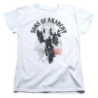 SONS OF ANARCHY/REAPERS RIDE-S/S WOMEN'S TEE-WHITE