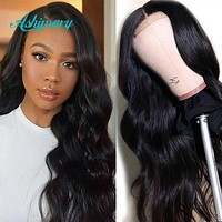 Ashimary 4x4/6x6 Lace Closure Wig Human Hair Brazilian Body Wave Lace Wigs 13X4/13X6 Lace Front Human Hair Wigs