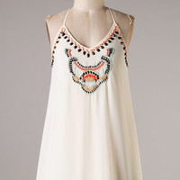 Gem Tunic Dress - Cream - Hazel & Olive