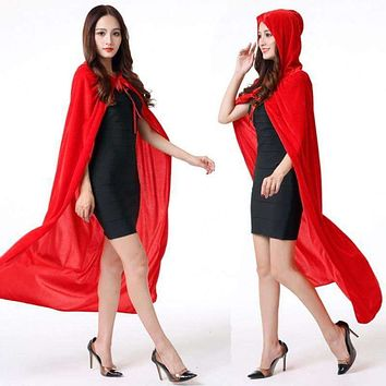 Women's Velvet Hooded Cape/Cloak