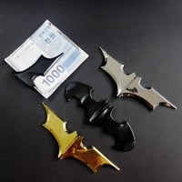 EDC Magnetic Money Clip Dark Knight Outdoor Portable Batman Folding Batarang Metal Holder Unisex's Zinc Alloy Pocket Wallet Clip