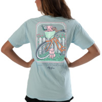 Lilly Grace Short Sleeve Tee- Pigs on a Bike
