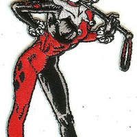 Harley Quinn Iron-On Patch Standing Figure