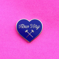Heathers How Very Hard Enamel Pin Veronica Sawyer Heather Chandler 1989 80s Big Fun Winona Ryder Christian Slater Mean Girls Film Flair