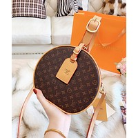LV Louis Vuitton Popular Women Shopping Bag Leather Circular Handbag Tote Crossbody Satchel Shoulder Bag