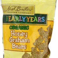 Nash Brothers Trading Organic Graham Bears, Honey, 8 Ounce (Pack of 12)