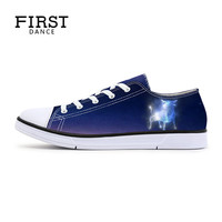 Breathable Flat Shoes Twelve Constellations Prints Series Canvas Shoes Casual High Top Shoes Women Starry Sky Soft Fashion 2017