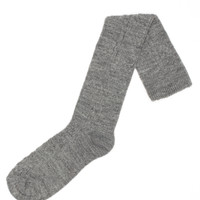 Acrylic & Spandex Cable Knit Knee Hi's Socks (Med Grey Heather)