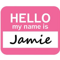 Jamie Hello My Name Is Mouse Pad - No. 1