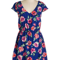 Mid-length Cap Sleeves A-line Exactly as it Dreams Dress