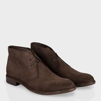 Paul Smith Men's Shoes   Brown Suede Howard Boots
