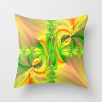 Lemons and Lime Throw Pillow by Alice Gosling | Society6