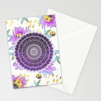 BLOOM MANDALA Stationery Cards by Nika