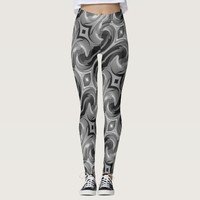 Gray Swirl Leggings