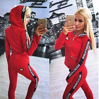 ''MOSCHINO'' Fashion  Hoodie Top Sweater Pants Trousers Set Two-piece Sportswear