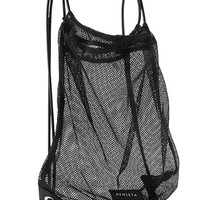 Athleta Womens Mesh Drawstring Bag Size One Size - Black