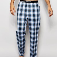 Hugo Boss Check Woven Loungepants In Regular Fit at asos.com