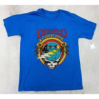 dead and company summer tour 2018 blue t shirt new dead co|T-Shirts