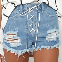 Mercy Shorts - Blue/White