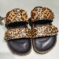 LV New fashion leopard print shoes flip flop slippers