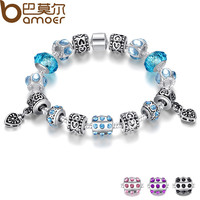 Bamoer Trendy Silver Plated Anniversary Bracelets For Women