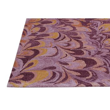 Abstract Pink & Brown Color Hand Tufted Modern Style Bamboo Silk Area Rug