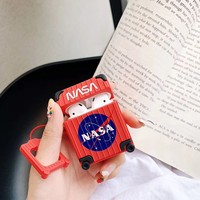 Nasa Suitcase Style Protective Airpods Case - Red