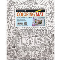 """Crescent Coloring Mat, 8"""" x 10"""" Kids Love This Prefect Gift"""
