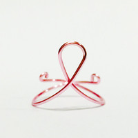 Pink Breast Cancer Ribbon Donation Ring