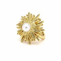 Oscar de la Renta Pearly Sun Star Statement Ring