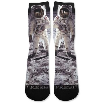 Moon Man Custom Athletic Fresh Socks