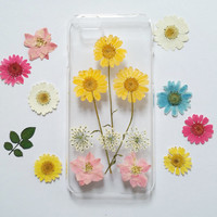 Pressed Flower iPhone 5s Case, iPhone 5s Case clear,flower iPhone 5 Case, Clear iPhone 5c Case, iPhone 5s Case, iphone 5c, daisy iphone case