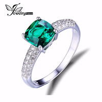 JewelryPalace 1.8ct Emerald & Sterling Silver Ring