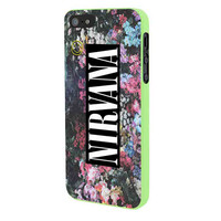Nirvana Logo Floral Flower Design iPhone 5 Case Framed Green