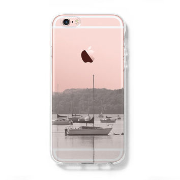 Landscape River Boats iPhone 6s Clear Case iPhone 6 plus Cover iPhone 5s 5 5c Transparent Case Samsung Galaxy S6 Edge S6 Case