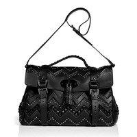 Mulberry - Black Smooth Touch Leather Oversized Zigzag Bag